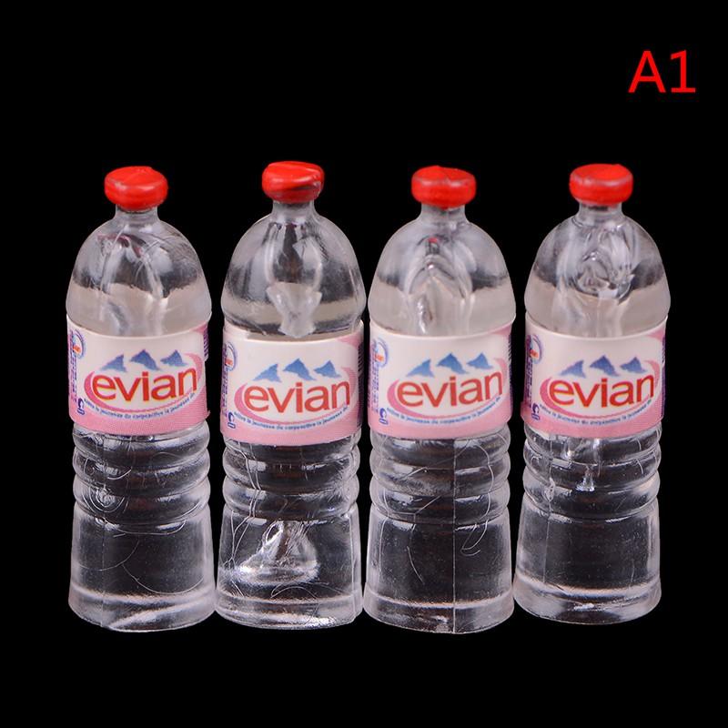 Coagulatepower 1:12 4Pcs dollhouse water bottle miniature toy doll food kitchen accessories