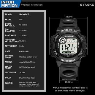 [FLASH SALE] Đồng hồ thể thao trẻ em Synoke 9001 dây cao su cao cấp (3 MÀU)