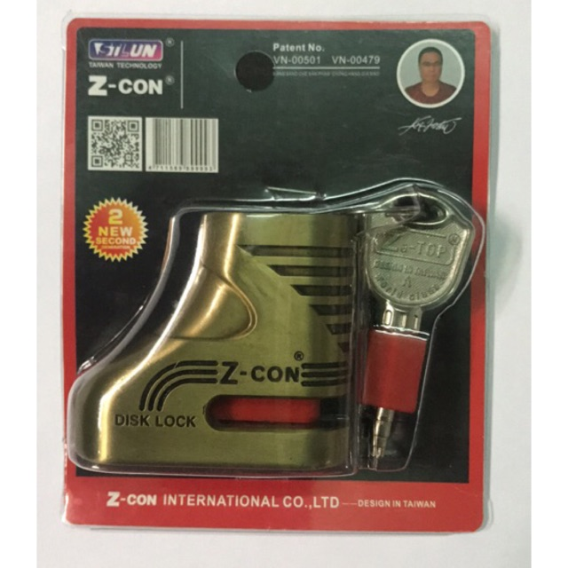 Ổ khoá đĩa xe máy Z-Con