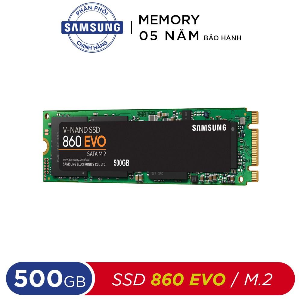 [Mã ELCLJAN giảm 7% đơn 500k]Ổ cứng SSD Samsung 500GB 860 EVO Sata M.2 (Bảo hành 5 năm)