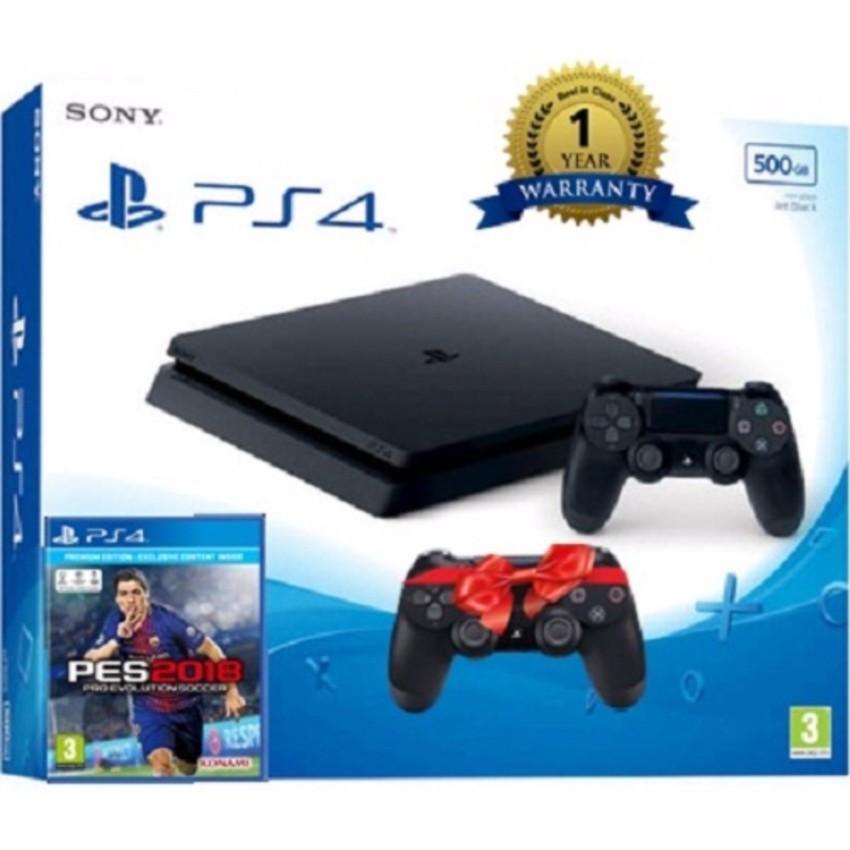 Máy Sony PS4 slim 500gb CUH 2106 +Tay cầm dualshock 4 và Pes 2018