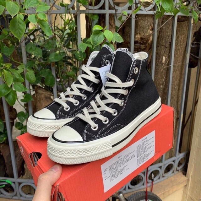 (Full box + Bill) Giày thể thao Đen cao cổ Mũi bóng, lót xanh