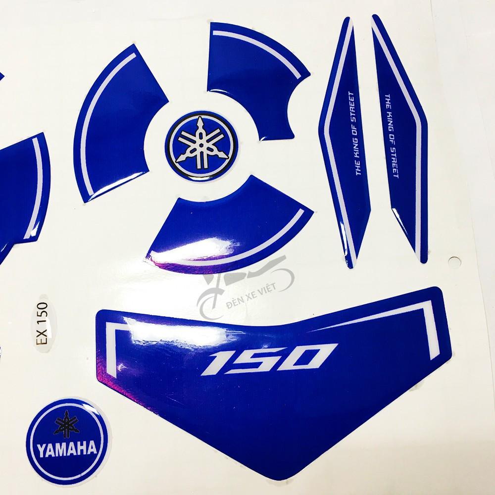 [ẢNH THẬT] 1 Bộ Tem nổi, decal dán Lốc máy xe Exciter 150 - 3 màu tùy chọn - Bề mặt tem phủ silicon kiểu 3D chống nước