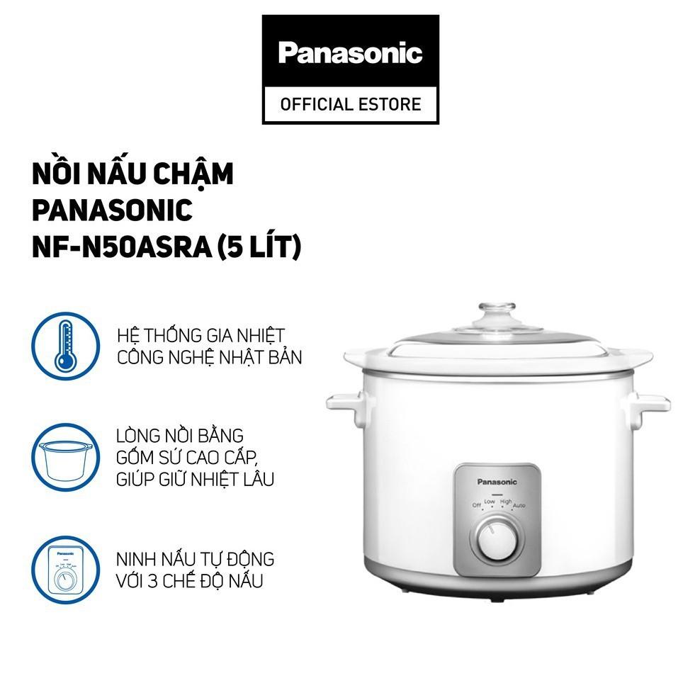 [Mã ELTECHZONE giảm 5% đơn 500K] Nồi nấu chậm Panasonic 5 lít NF-N50ASRA