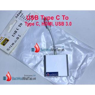 Bộ Adapter cáp chuyển Type-C sang HDMI 4k/USB/TypeC