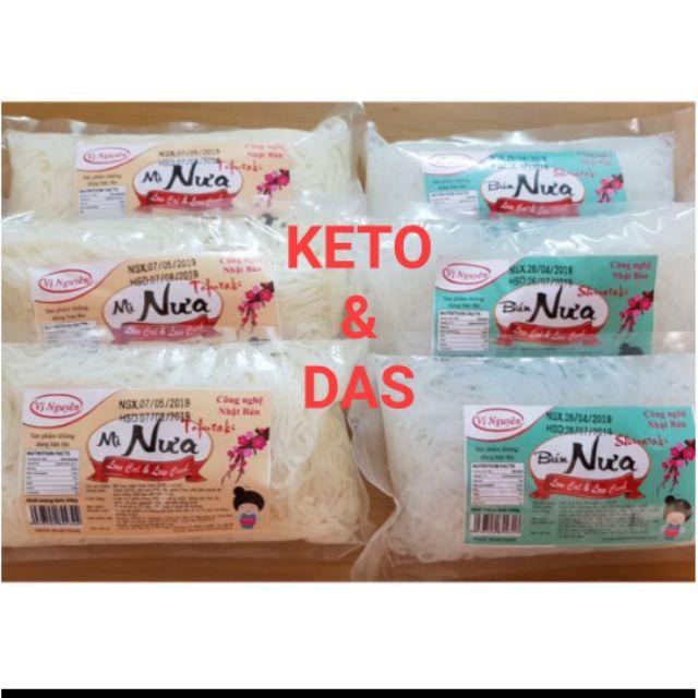 (Mua 5 tặng quà)Bún nưa, mì nưa không carb ăn kiêng Keto/Das