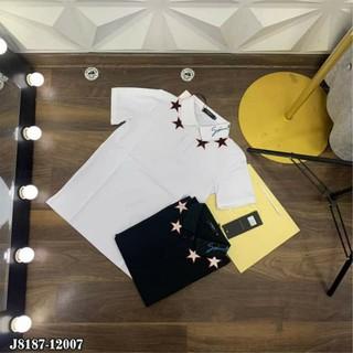 [Siêu Quà] Áo phông thêu hình ngôi sao ở cổ