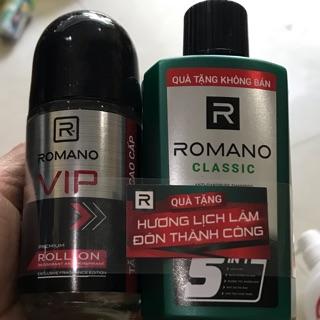 ROMANO VIP Lăn khử mùi chai 50ml tặng dầu gội