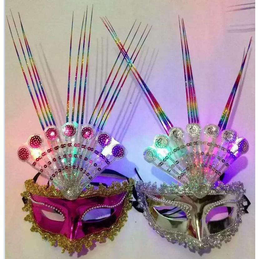 SK-mặt nạ lông vũ ( kèm ảnh thật )-( MK3) shop bansigudetama