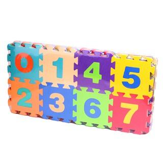 Thảm xốp 15 x 15 cm hình chữ cái và chữ số