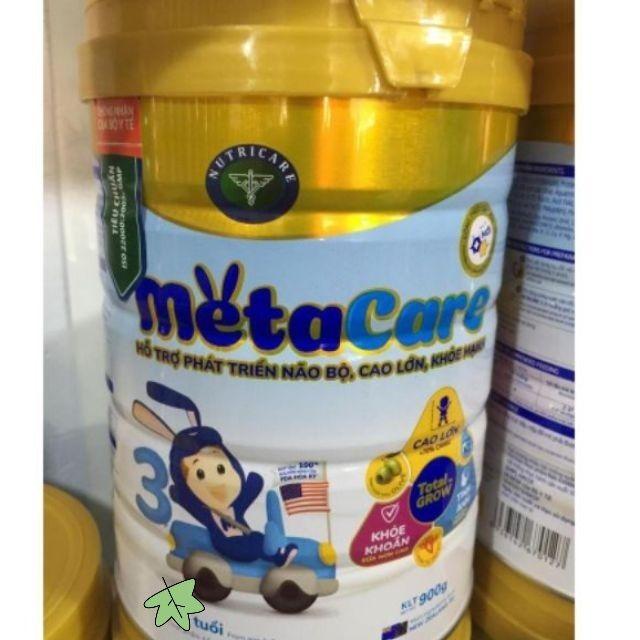 Sữa bột Metacare 3 hộp 900g Mẫu Mới ( HSD 2021 )