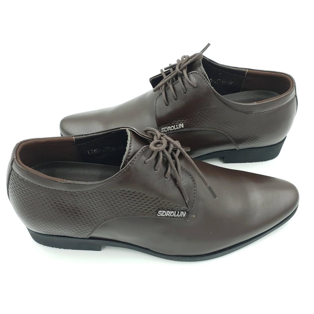 Giày tăng chiều cao nam Hải Nancy da bò cao cấp LTG2750N