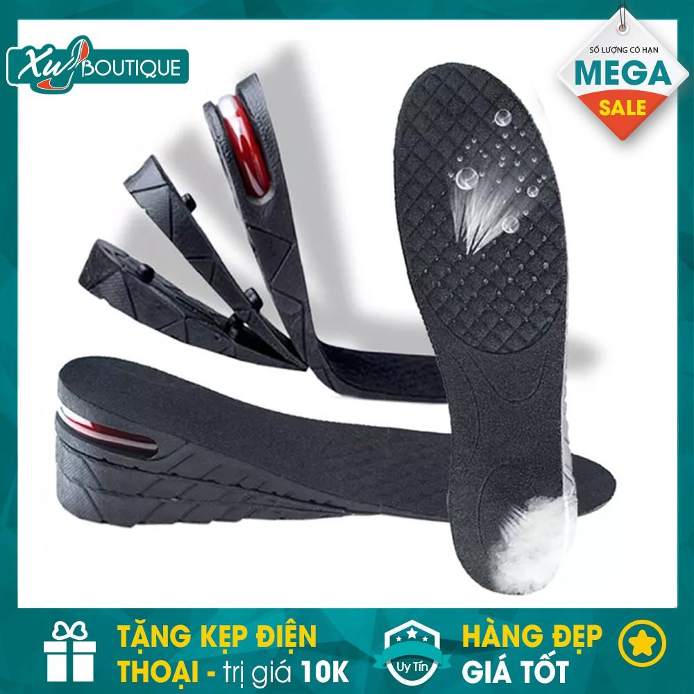 [SOCK] 02 Miếng Lót Giày Độn Đế Tăng Chiều Cao +Tặng Kẹp Điện Thoại (Loại 3cm,4,5cm, 7cm Đệm Khí)