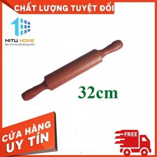 [CÂY LĂN BỘT] Cây lăn bột gỗ làm bánh – MITUHOME, rất hiệu quả, tiện lợi, chất liệu gỗ lim- Chiều dài 32cm