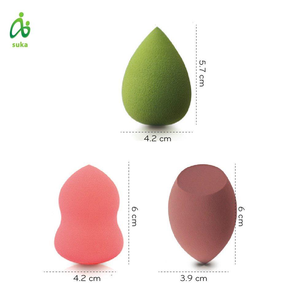 Bông mút trang điểm hình giọt nước mềm mịn nhiều màu SK