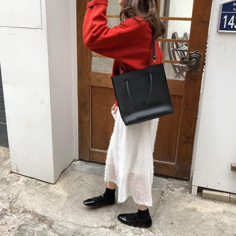 [SẴN] Túi tote da chữ nhật phong cách ulzzang Hàn Quốc - P002