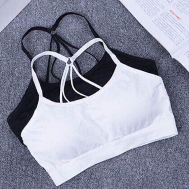Bra cotton dây lưng đan 9270_ Áo tập Gym - BRA14