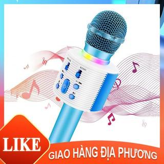 mic hát karaoke cầm tay mini - Micro karaoke bluetooth không dâymicro karaoke gia đình Âm thanh nổi 3D [NBHTV6]