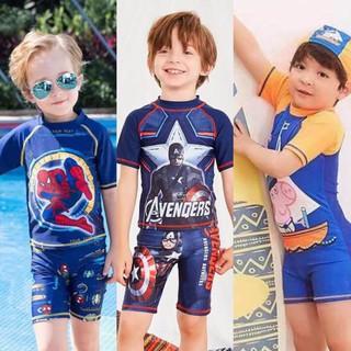 Nini_kids:Bộ đồ bơi bé trai đi biển quần bơi áo bơi cho bé