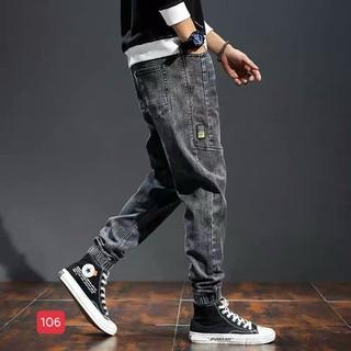 (HỖ TRỢ ĐỔI SIZE) Quần Jean ống jogger mẫu xám trẻ trung, giá rẻ chất liệu jean cao cấp 108