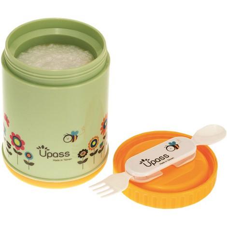 Hộp giữ ấm không BPA 500 ml kèm thìa nĩa Upass