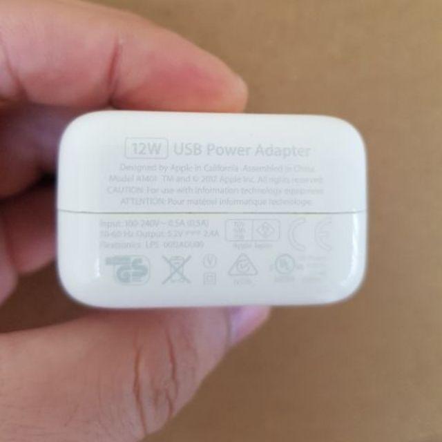[ Trợ giá ] Củ sạc ipad 12w hàng bóc máy chính hãng APPLE like new