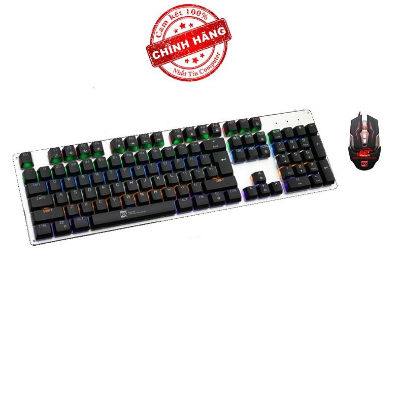 Bộ bàn phím cơ và chuột LED chơi Game R8 G100 - G2 (Đen) - Hãng phân phối chính thức