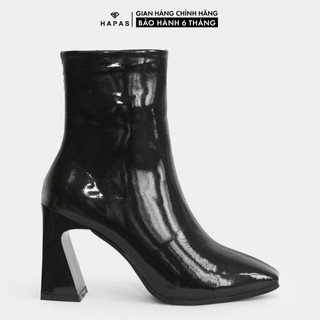 Giầy Bốt Nữ Boot Da Bóng Khoá Cạnh 9Phân HAPAS - BOT922