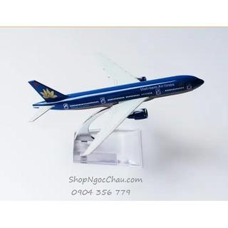 [Nhập mã TOYVUI giảm 20% tối đa 50K]Mô hình máy bay tĩnh B777 Vietnam Airlines 16cm