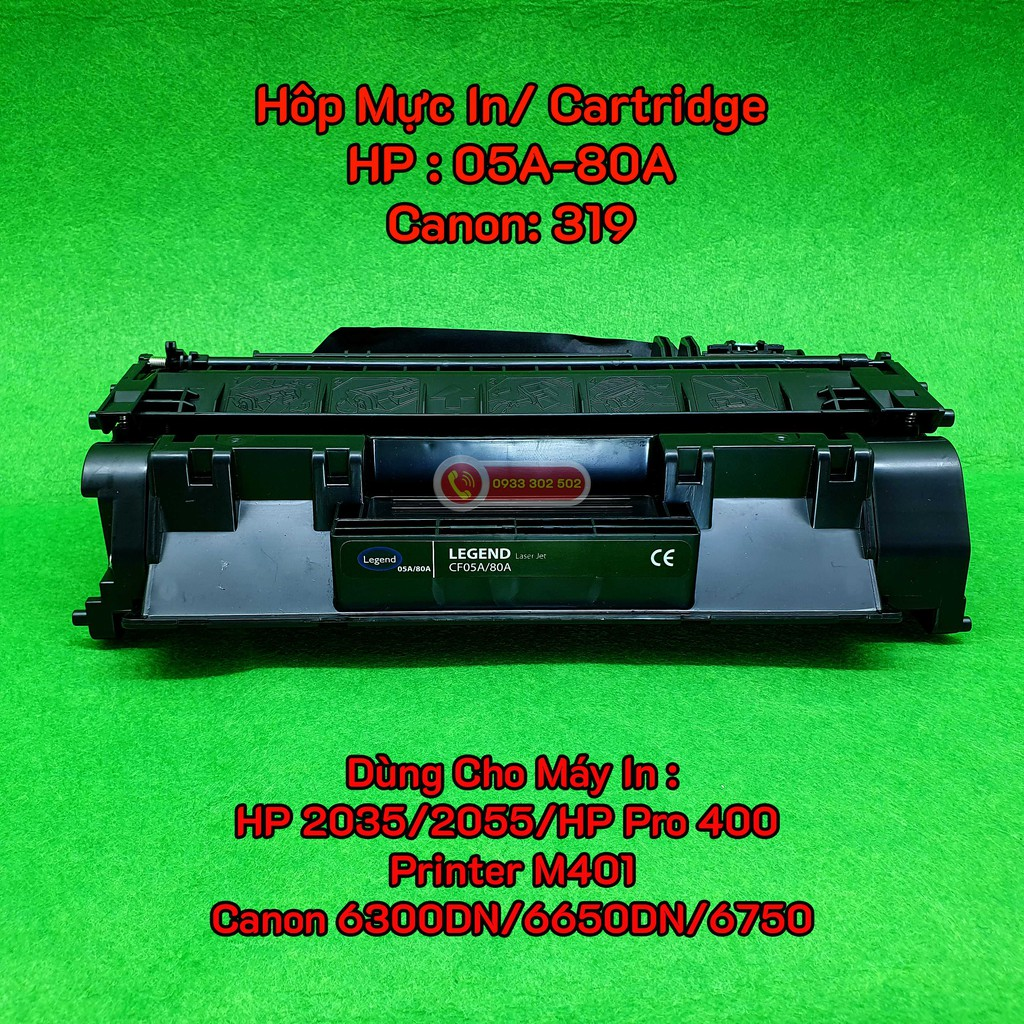 Hôp Mực máy In mã 05A - 80A - 319