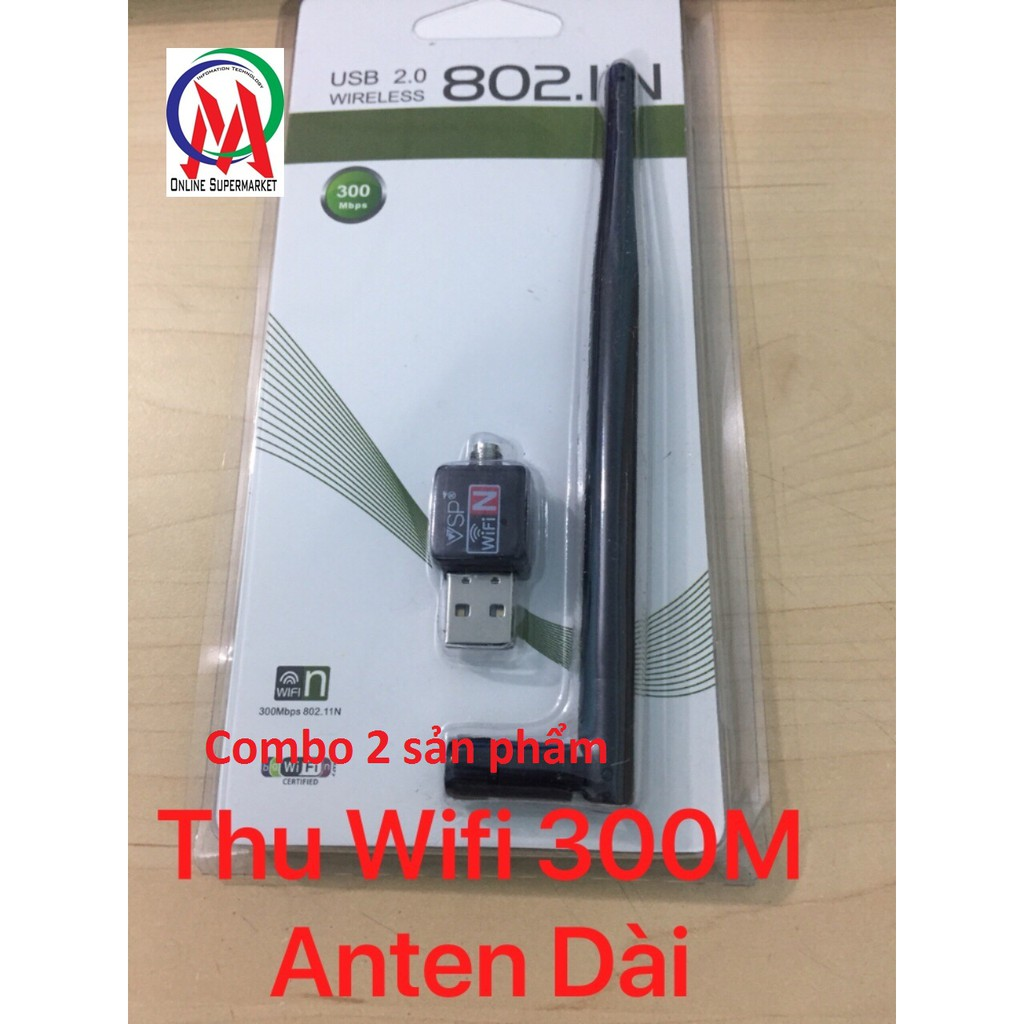 Combo 2 USB Wifi VSP 300M có Anten DÀI - 3062661 , 1265921704 , 322_1265921704 , 159000 , Combo-2-USB-Wifi-VSP-300M-co-Anten-DAI-322_1265921704 , shopee.vn , Combo 2 USB Wifi VSP 300M có Anten DÀI