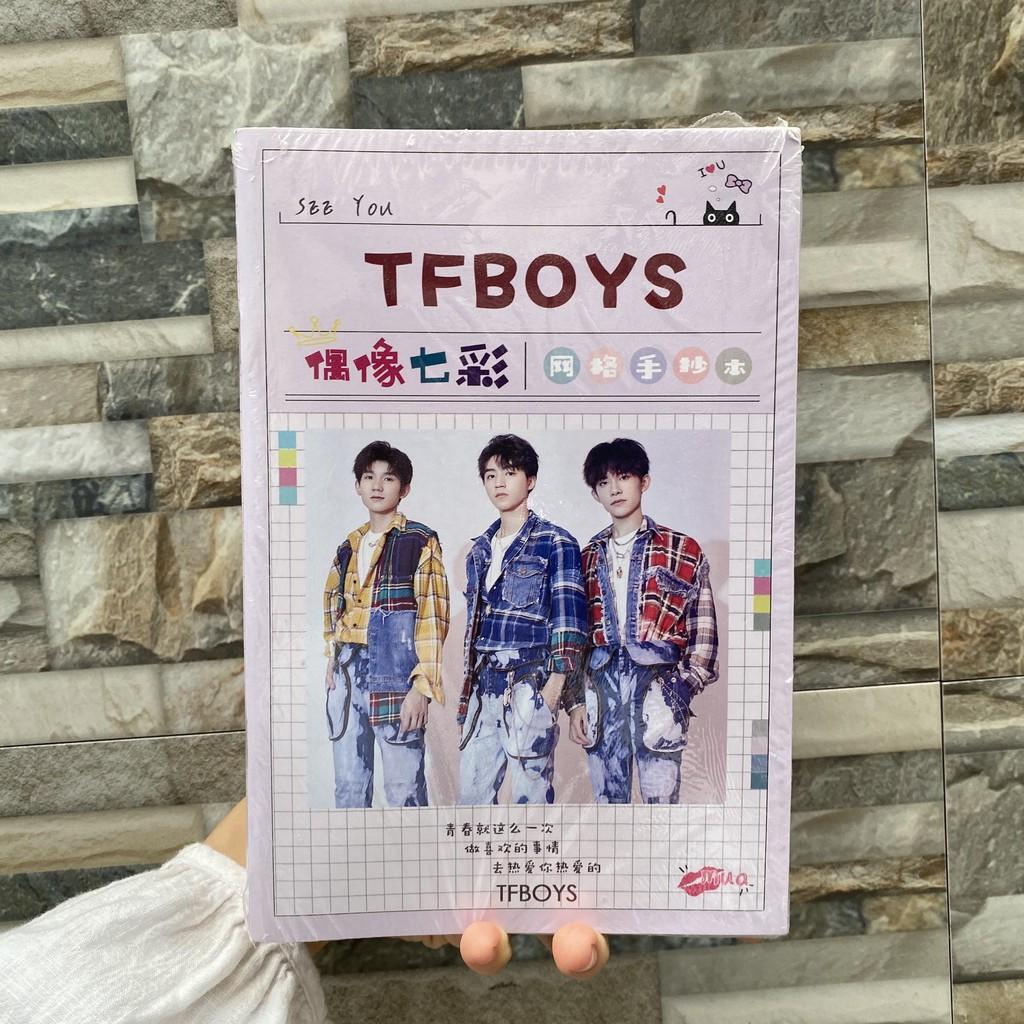 Vở TFBoys vở tập viết in hìng idol Trung Quốc ảnh bìa in màu