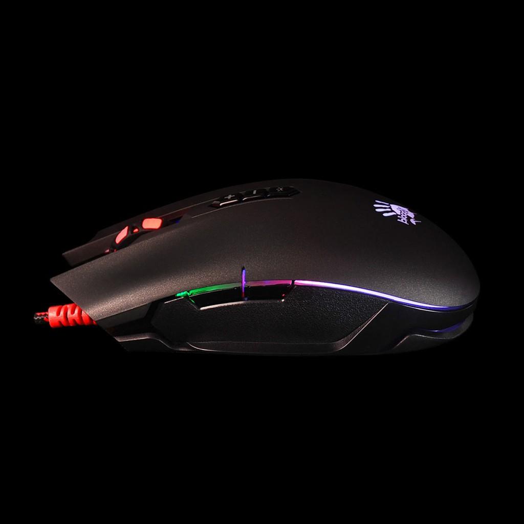 [Mã 267ELSALE hoàn 7% xu đơn 300K] Chuột Gaming A4Tech Bloody Q80 Neon X-Glide 3200 CPI