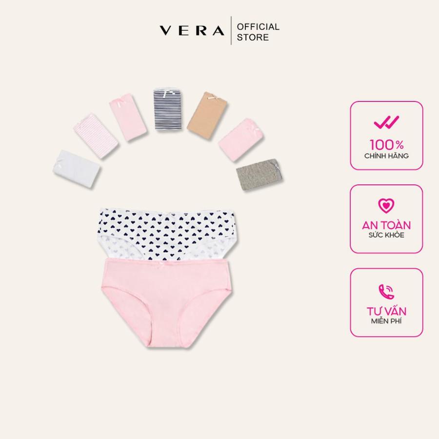 Combo 10 quần lót nữ cotton có họa tiết VERA 8397