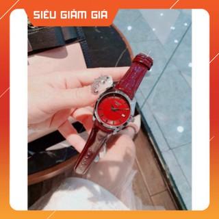 (RẺ VÔ ĐỊCH) Đồng hồ nữ TIS OT full box dây da bóng, mặt chống xước donghoxinh