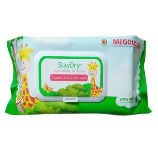 Khăn Ướt Organic Trẻ Em StayDry 100 Tờ Không Mùi Hương - An Toàn 100% Tuyệt Đối Cho Trẻ