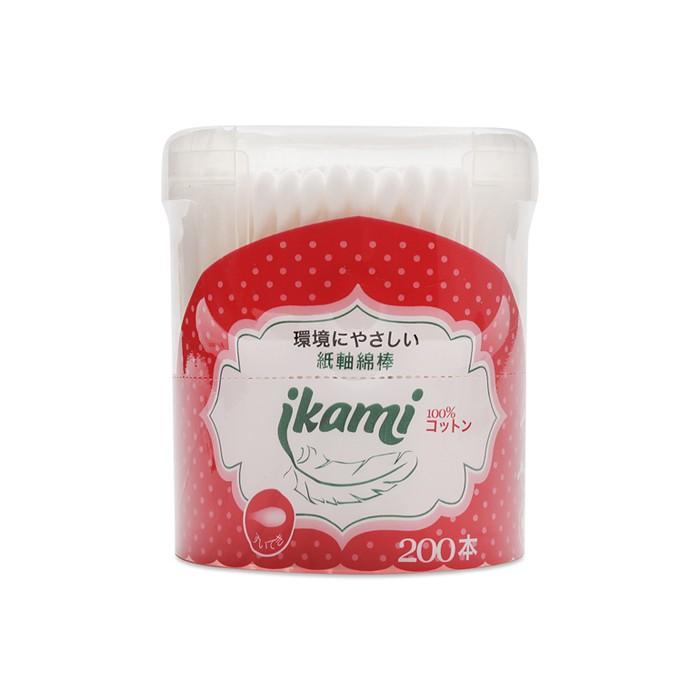 Tăm bông thân giấy Ikami đầu thường 20