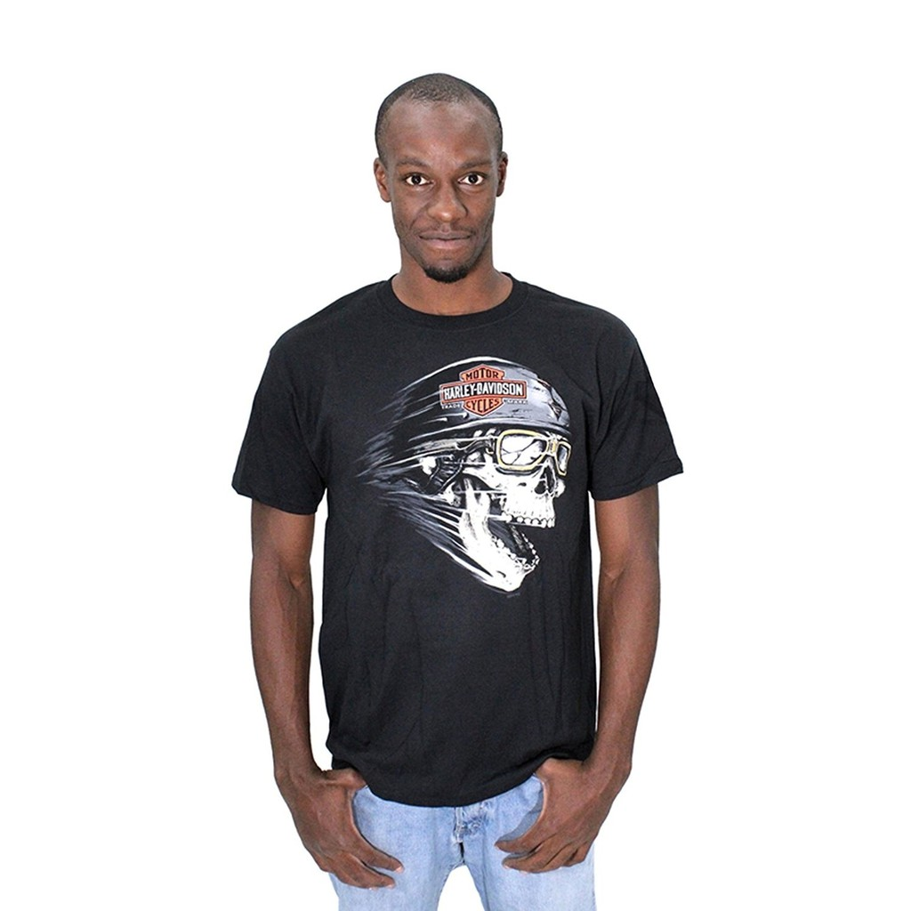 Mens Screaming Skull With Trademark Black Father's Men'T-Shirt