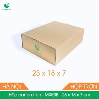 MXK3B - 23x18x7 cm - 50 Thùng hộp carton trơn đóng hàng