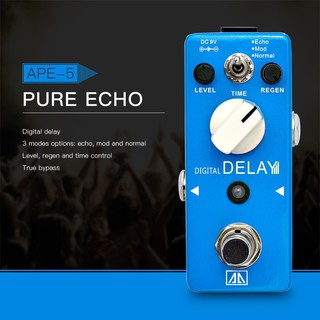 yohi2018 AROMA APE-5 Digital Delay Guitar EffectPedal 3 Modes Dealy Effect