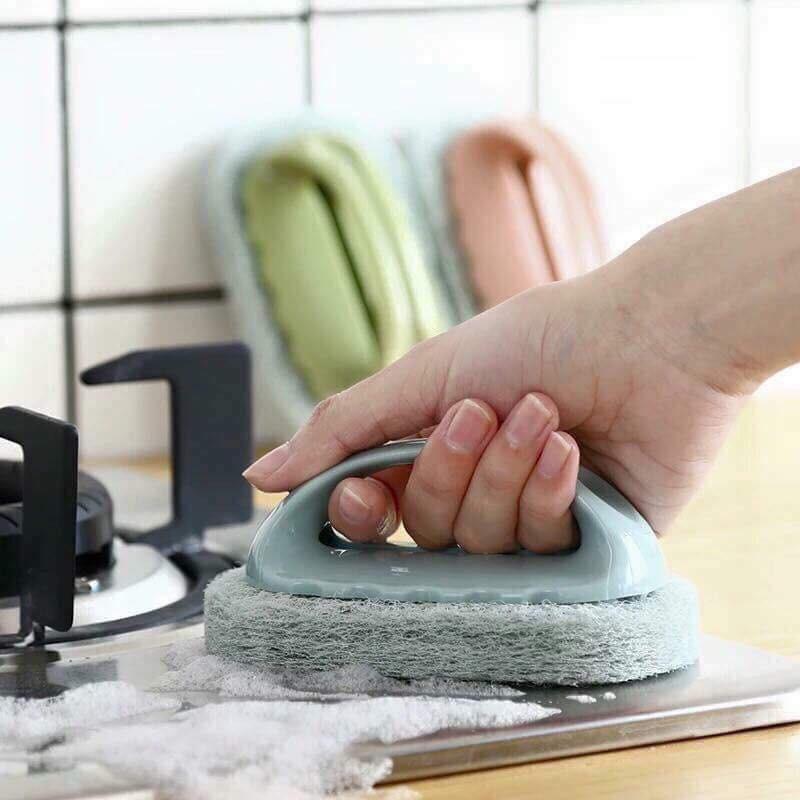 Bàn chải cọ rửa đa năng có tay cầm bàn chải chà ma thuật nano