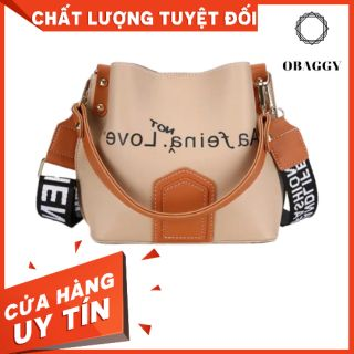 (MUA NGAY) Túi đeo chéo 2 quai, nhiều ngăn, túi đeo chéo dạng dây chữ,  túi đeo chéo túi xách nữ cute