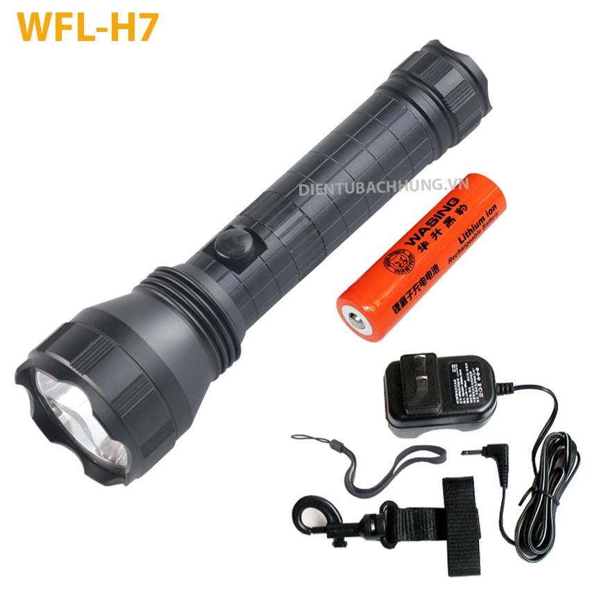 Đèn pin wasing WFL-H7 CREE LEDs XM-L2-U2 10W 1000Lumens