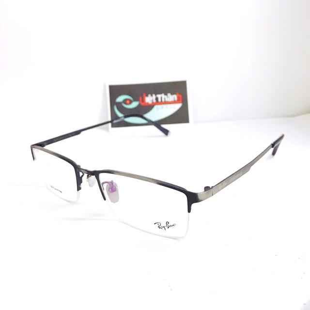 Gọng kính cao cấp nửa viền mắt kính cận thị viễn thị