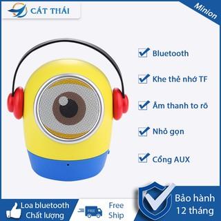 Loa bluetooth minion loa bluetooth mini hoạt hình thiếu nhi hỗ trợ thẻ nhớ AUX,âm thanh bass rung trung thực