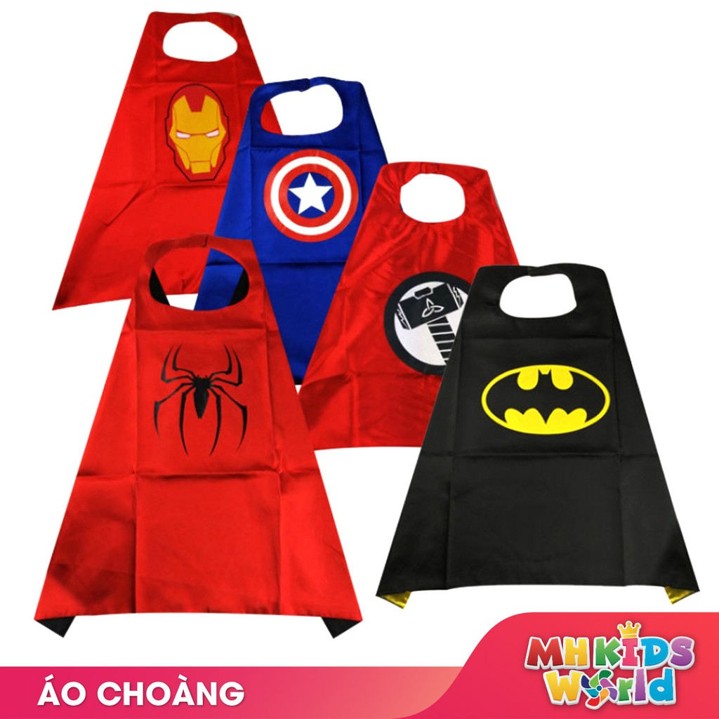 Áo choàng hóa trang cho trẻ em thành nhân vật Avengers do choi hoa trang Transformer Halloween, trung thu, cosplay
