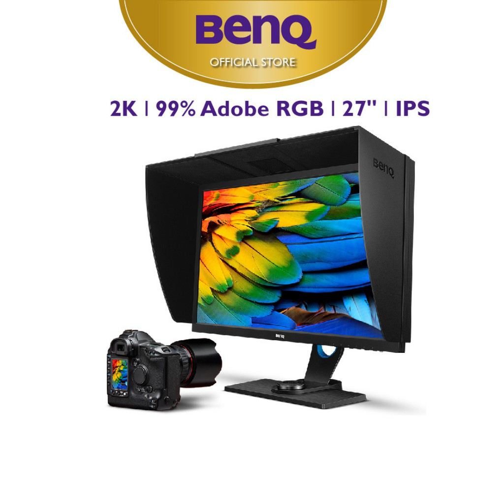"""Màn hình máy tính BenQ SW2700PT 27 inch 27"""" 2K QHD 2560x1440 IPS Adobe RGB dành cho nhiếp ảnh gia xử lý hình ảnh"""