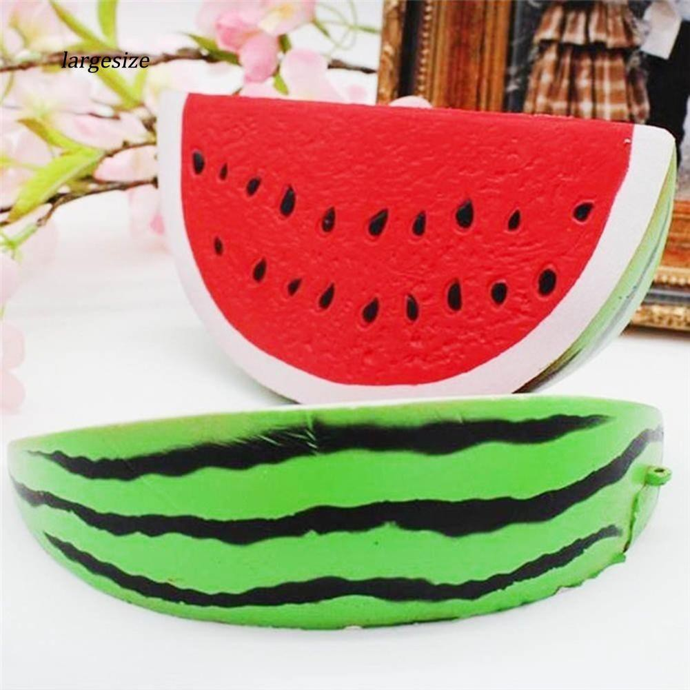 Simulated Watermelon Squishy Slow Rising Kids Adult Squeeze Toys Stress Reliever