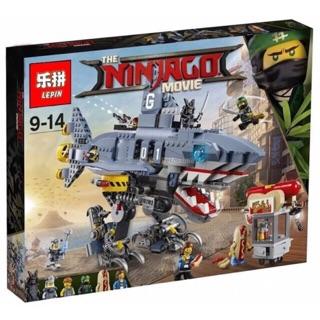 Lego Ninja lepin 06067/ lele 31101/ bela 10799 xếp hình Ninja go chúa tể bóng tối Garmadon phi thuyền cá mập