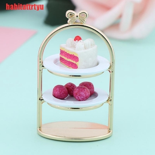 [habitattrtyu]1/12 Dollhouse Miniature Dessert Pan Cake Stand Fruit Tray Doll Kitch